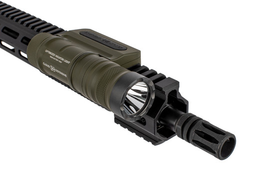 The Cloud Defensive OD Green OWL Tactical Light outputs up to 1250 Lumens
