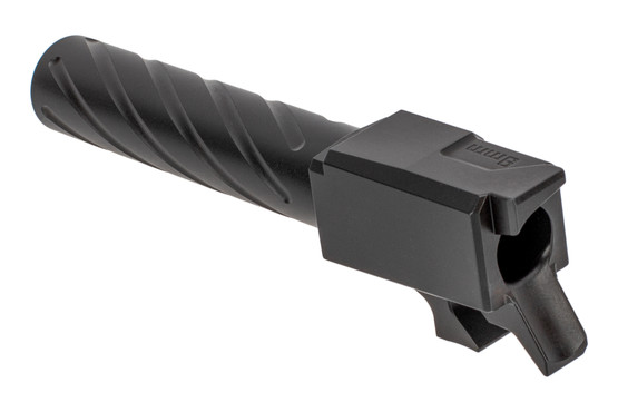 Primary Machine 9mm CZ P07 fluted barrel with black nitride finish and integral feed ramp