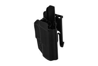 ANR Design Nidhogg CZ P10C OWB holster is made from black Kydex