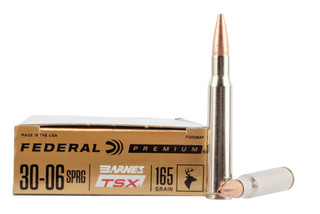 Federal Premium 30-06 ammo loaded with Barnes TSX copper hollow point bullets