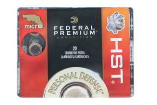Federal Premium HST 38 Special hollow point ammo comes in a box of 20 rounds
