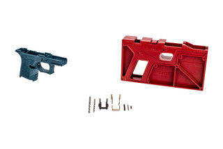 The Polymer 80 PF940SC 80% SubCompact Frame Kit blue titanium Frame is the perfect starting point for your custom Glock