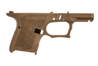 Polymer 80 PFSC9 subcompact pistol frame features a flat dark earth finish