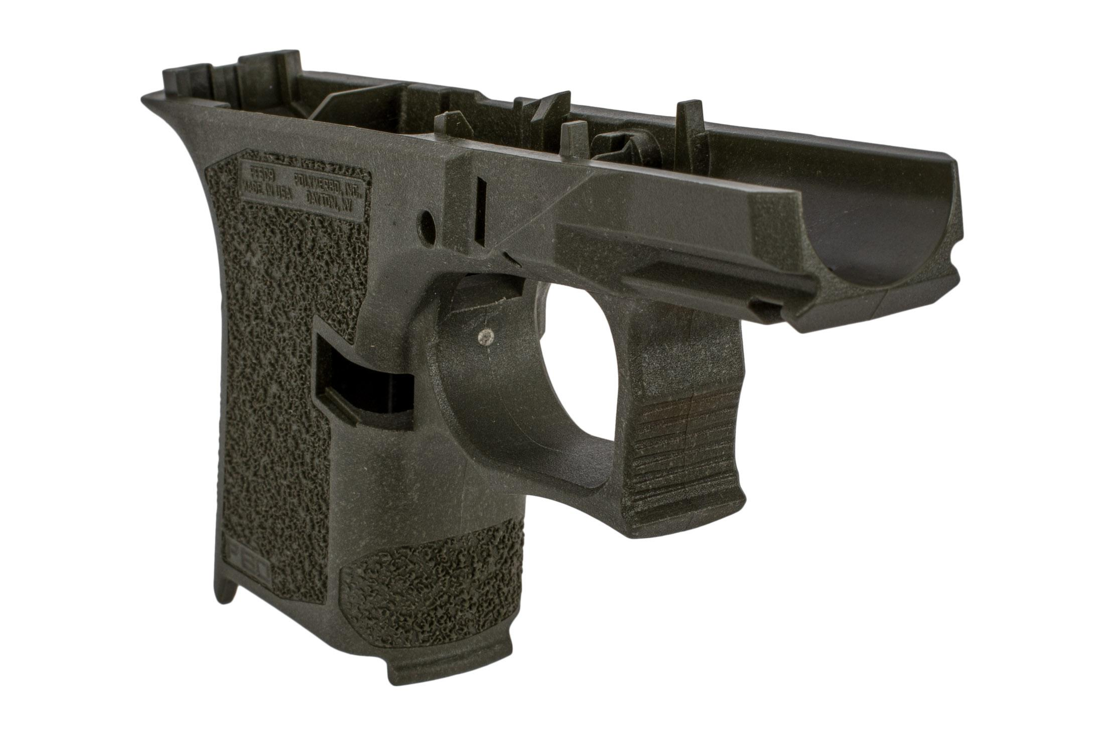 Polymer 80 sub compact frame serialized ODG features an aggressive grip texture