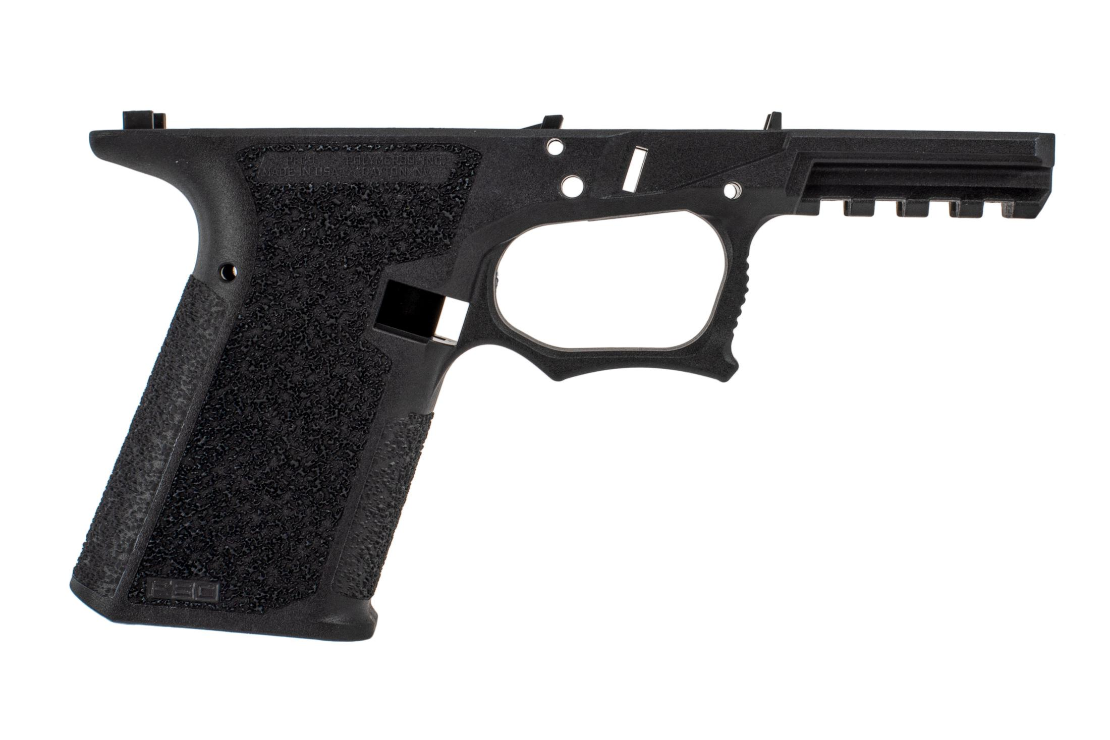 The P80 PFC9 Compact G19 pistol frame features a high undercut trigger guard