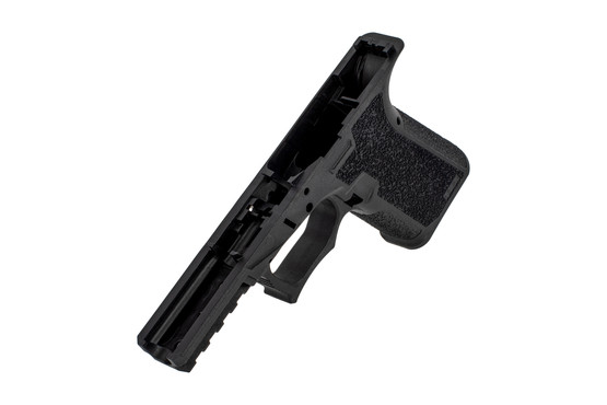 The Polymer 80 compact g19 frame comes with a locking block and rear rail