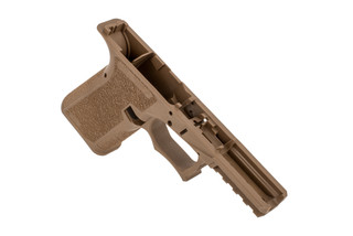 The Polymer 80 PFC9 FDE compact Glock 19 serialized frame is compatible with aftermarket and oem parts