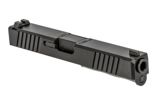 The Polymer 80 Glock 17 Slide Assembly features a black Nitride finish