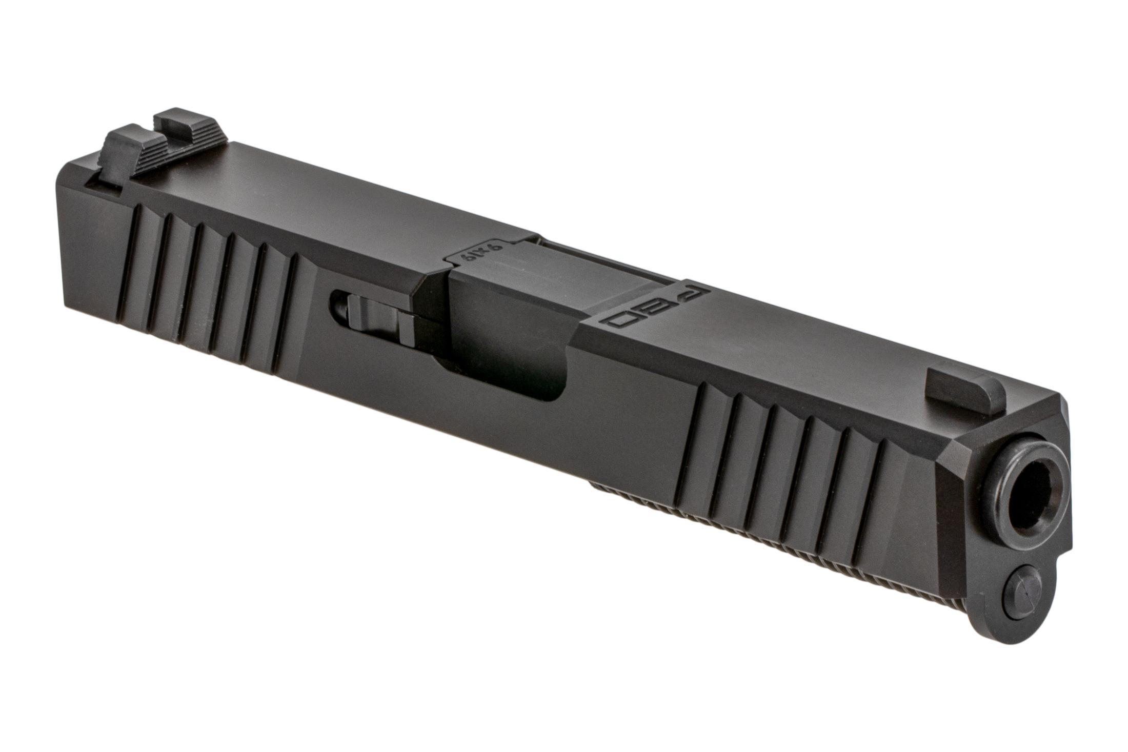 The Polymer 80 G19 slide assembly comes with all parts installed