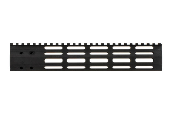 The FM Products M-LOK primary arms exclusive handguard features a picatinny top rail