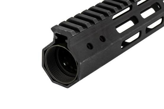 The Foxtrot Mike Products M-LOK handguard 8.5 features a full length top picatinny rail