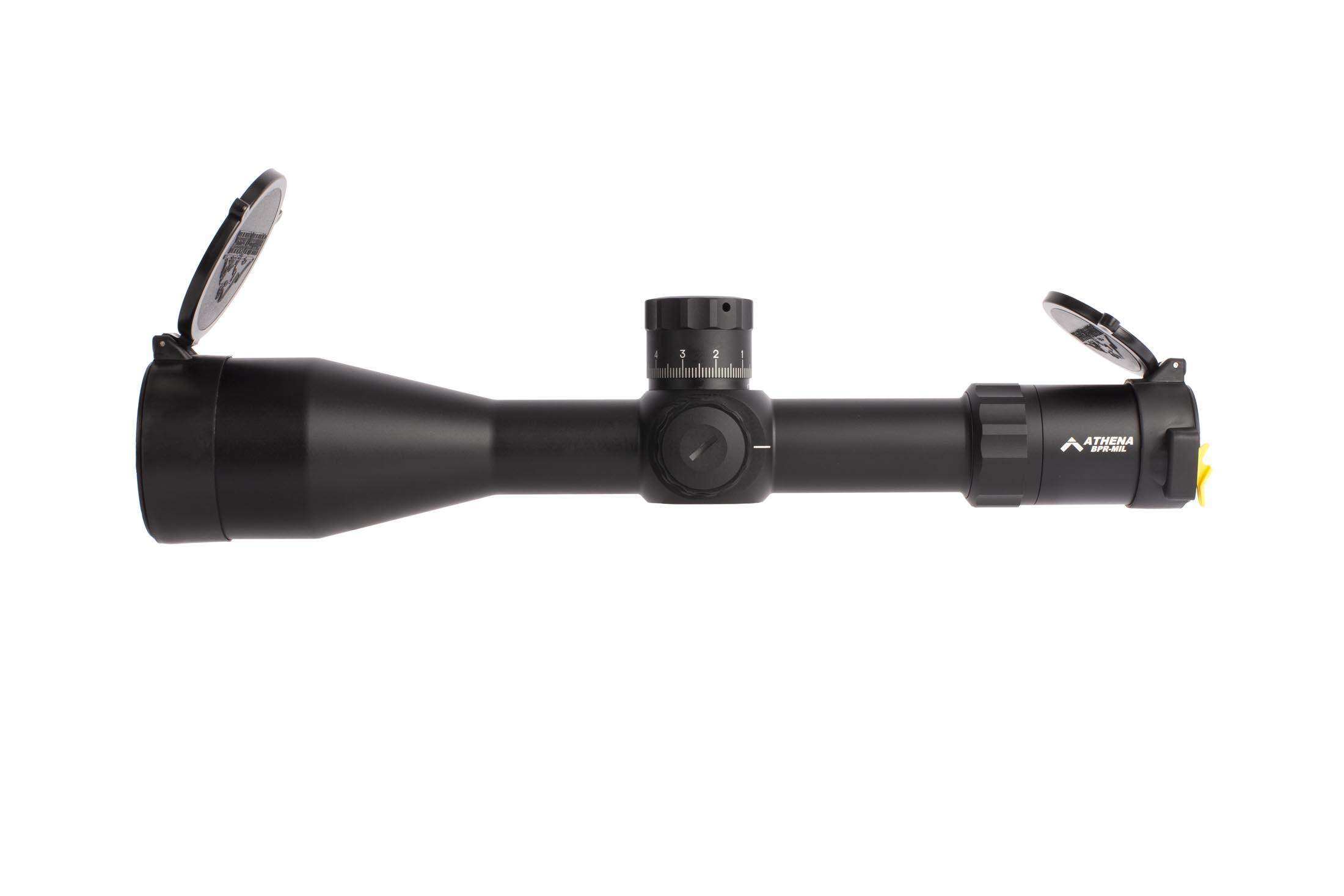 Platinum series PLX5 Athena BPR MIL 6-30x rifle scope features 11 brightness settings with off settings between