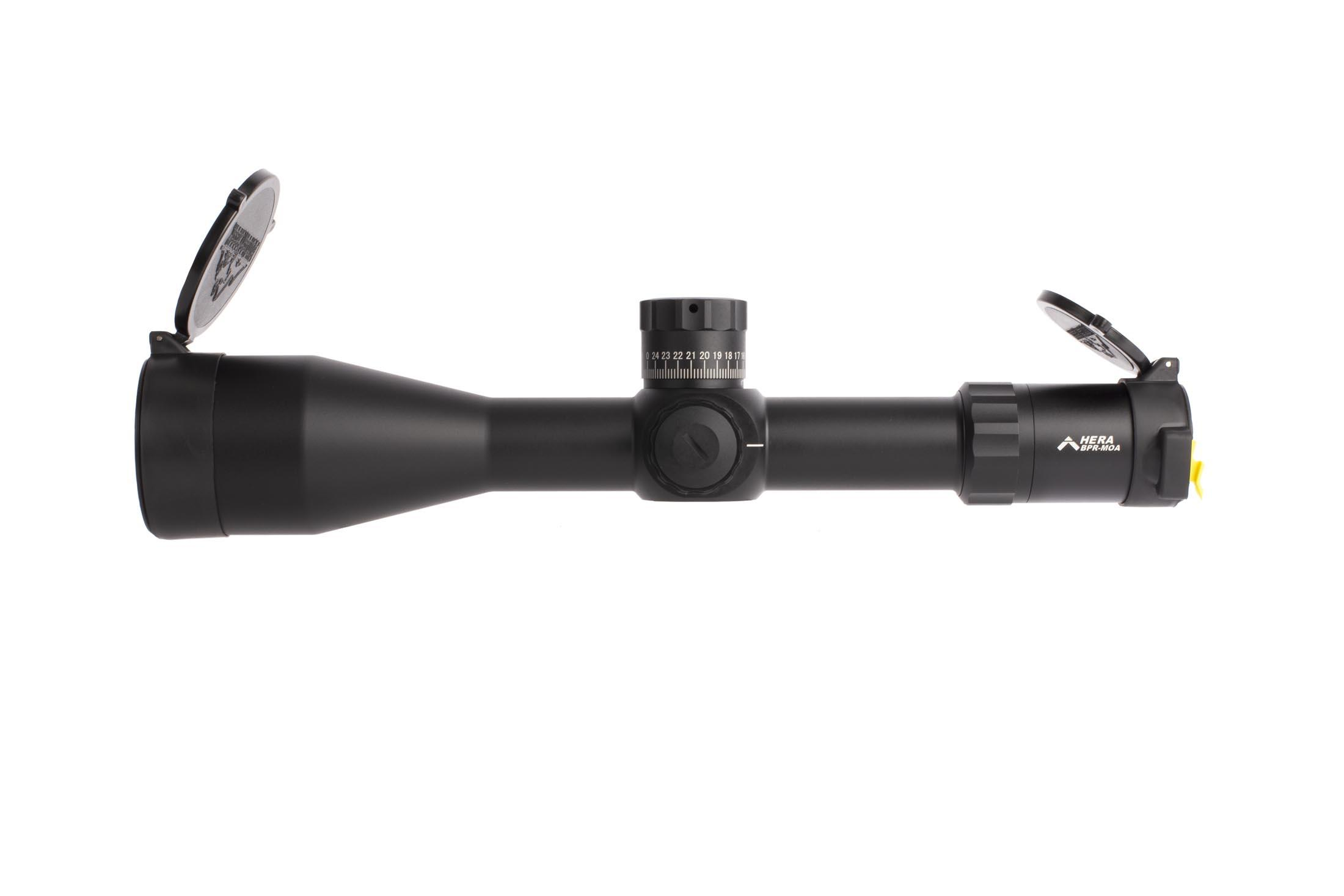 Platinum series PLX5 Hera BPR MOA 6-30x rifle scope features 11 brightness settings with off settings between