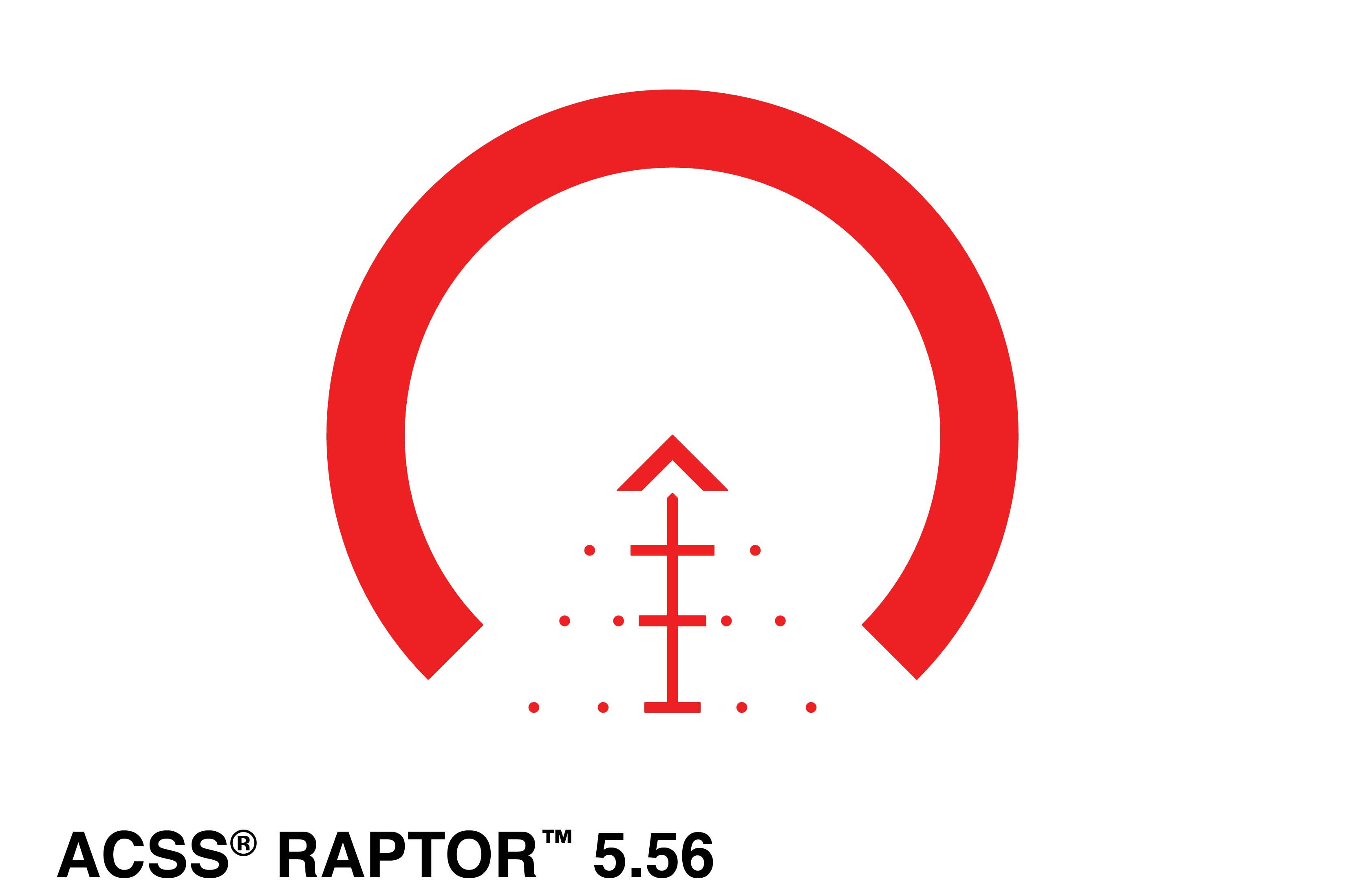 Primary Arms 1-6x24mm First Focal Plane glass etched ACSS Raptor 5.56 Reticle - Red Illumination
