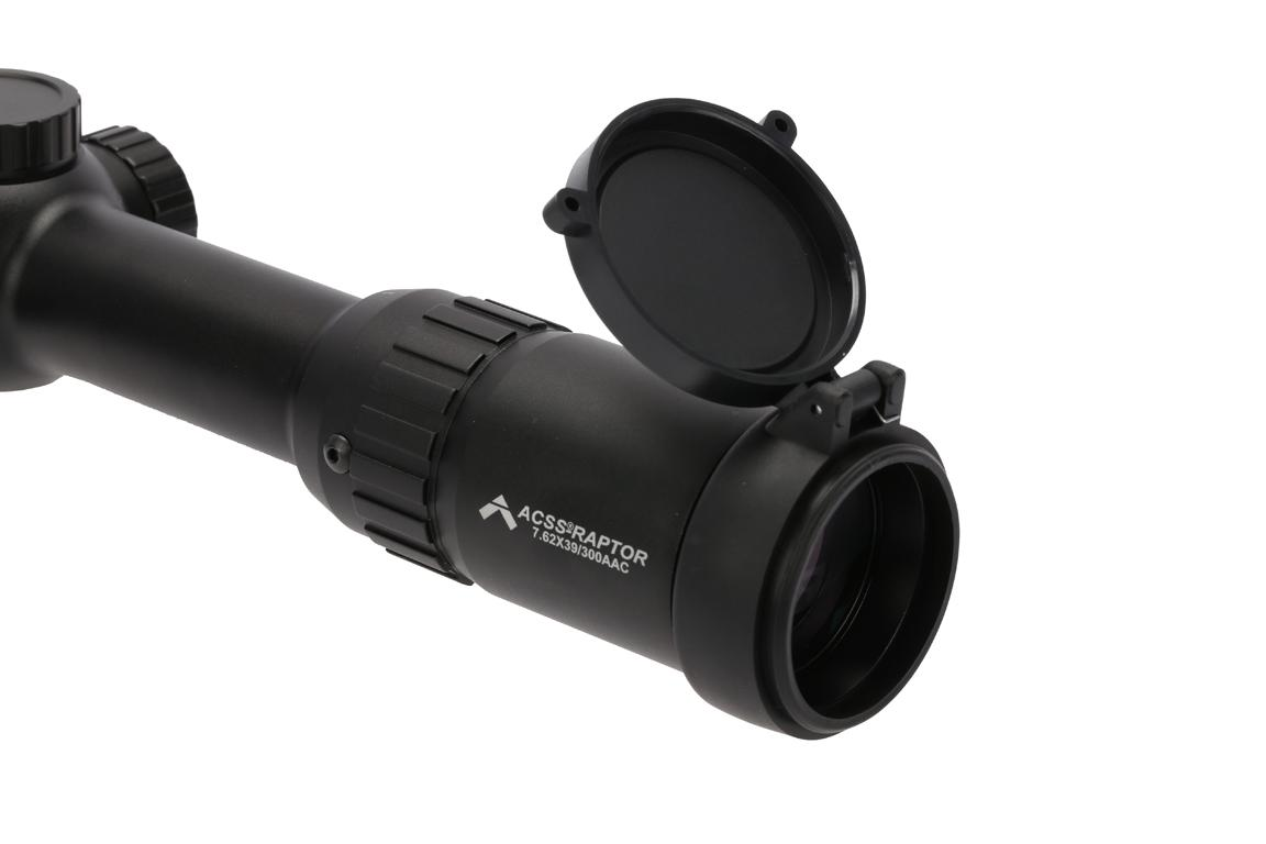 Primary Arms 1-6x24mm first focal plane ACSS Raptor 7.62 rifle scope has 4 inches of eye relief