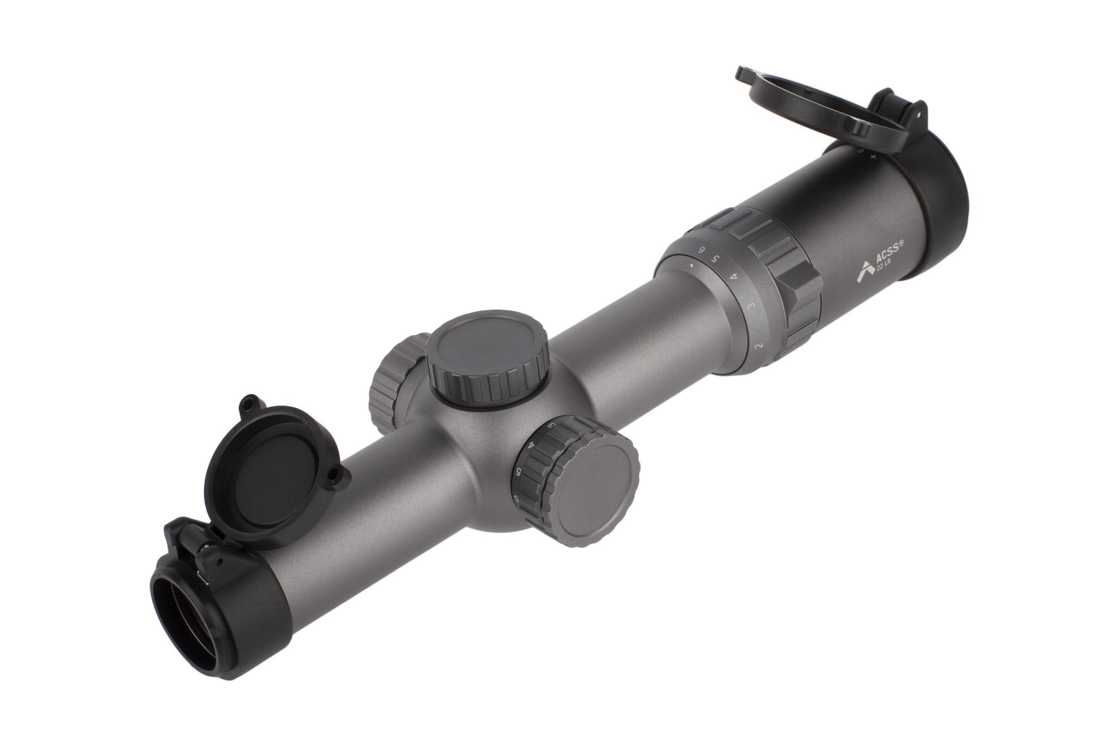 Primary Arms 1-6X24mm SFP Rifle Scope GEN III - Illuminated ACSS 22LR Reticle - Wolf Grey