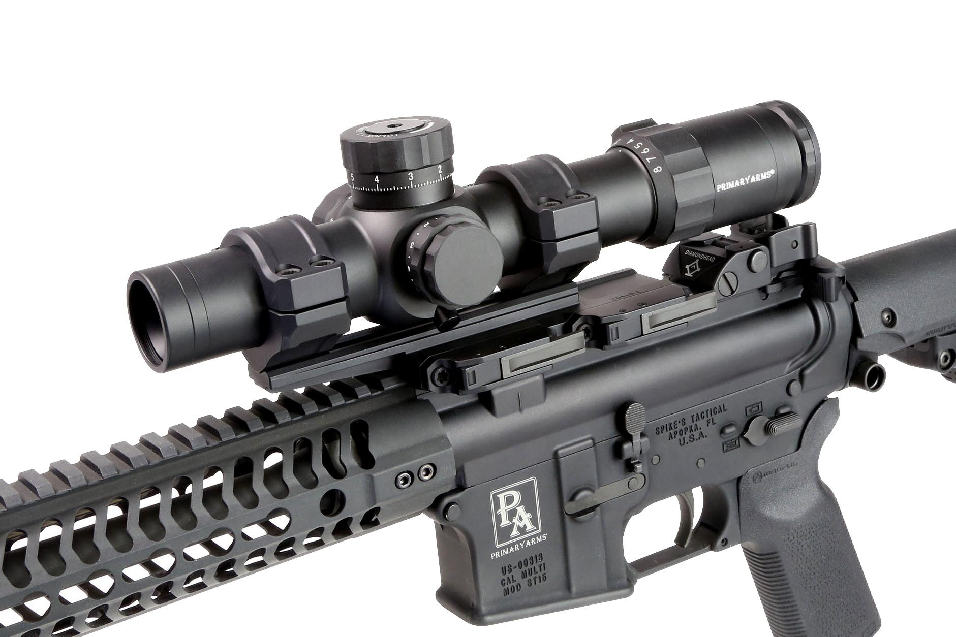 Primary Arms Platinum 1-8X24mm Scope with Patented ACSS 5.56 / 5.45 / .308 Reticle-PA1-8X24FFP-ACSS