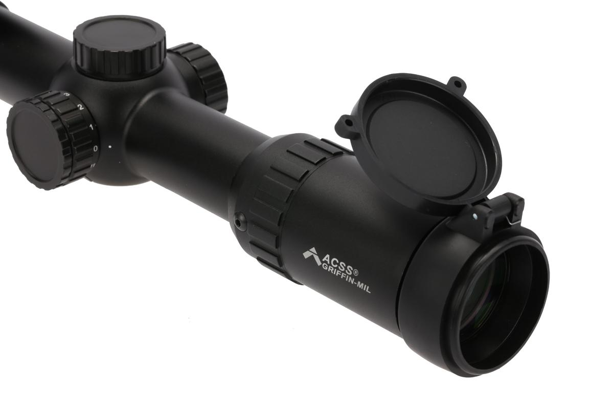Primary Arms 1-8x24mm SFP rifle scope has large rear aperture for excellent light transmission
