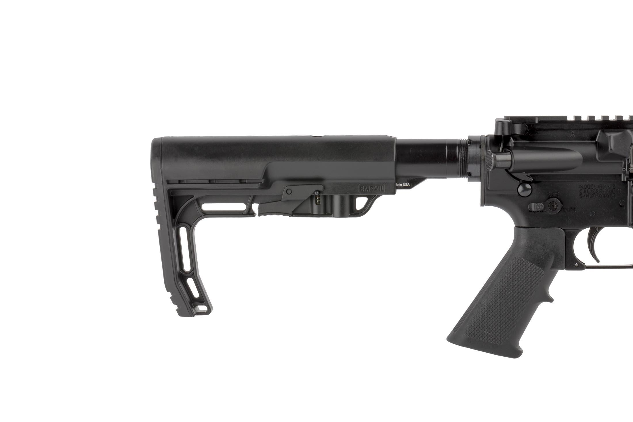 Radical Firearms 7.62x39mm AR-15 rifle with 16in barrel has an A2 rifle grip and MFT carbine stock