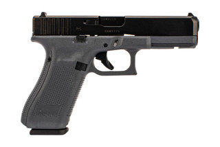 Glock Gen5 G17 full size 9mm grey polymer frame handgun with 10-round restricted magazines.