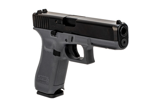 Glock G17 Gen5 9mm full size grey polymer frame handgun with standard sights and 10-round mags.