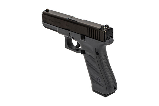 Glock 17 Gen 5 grey in 9mm with Dot-and-Bucket sights and and reduced capacity magazine