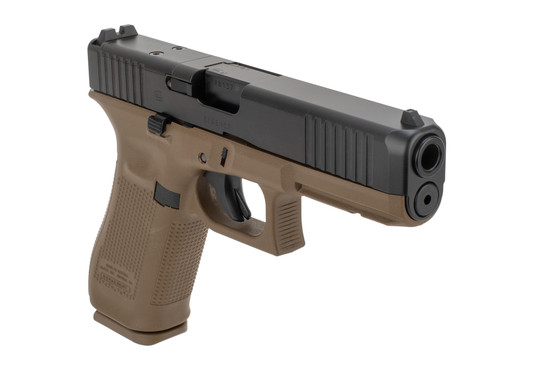 Glock G17 MOS gen5 9mm pistol fde comes with three 17 rounds mags