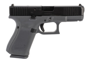 Glock 19 Gen5 MOS 9mm Pistol features a polymer grey frame