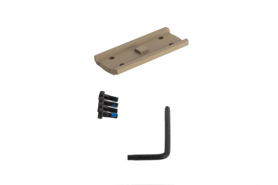 Primary Arms medium height spacer with FDE anodized finish for the compact 1X prism scope includes mounting screws and torx wrench for installation