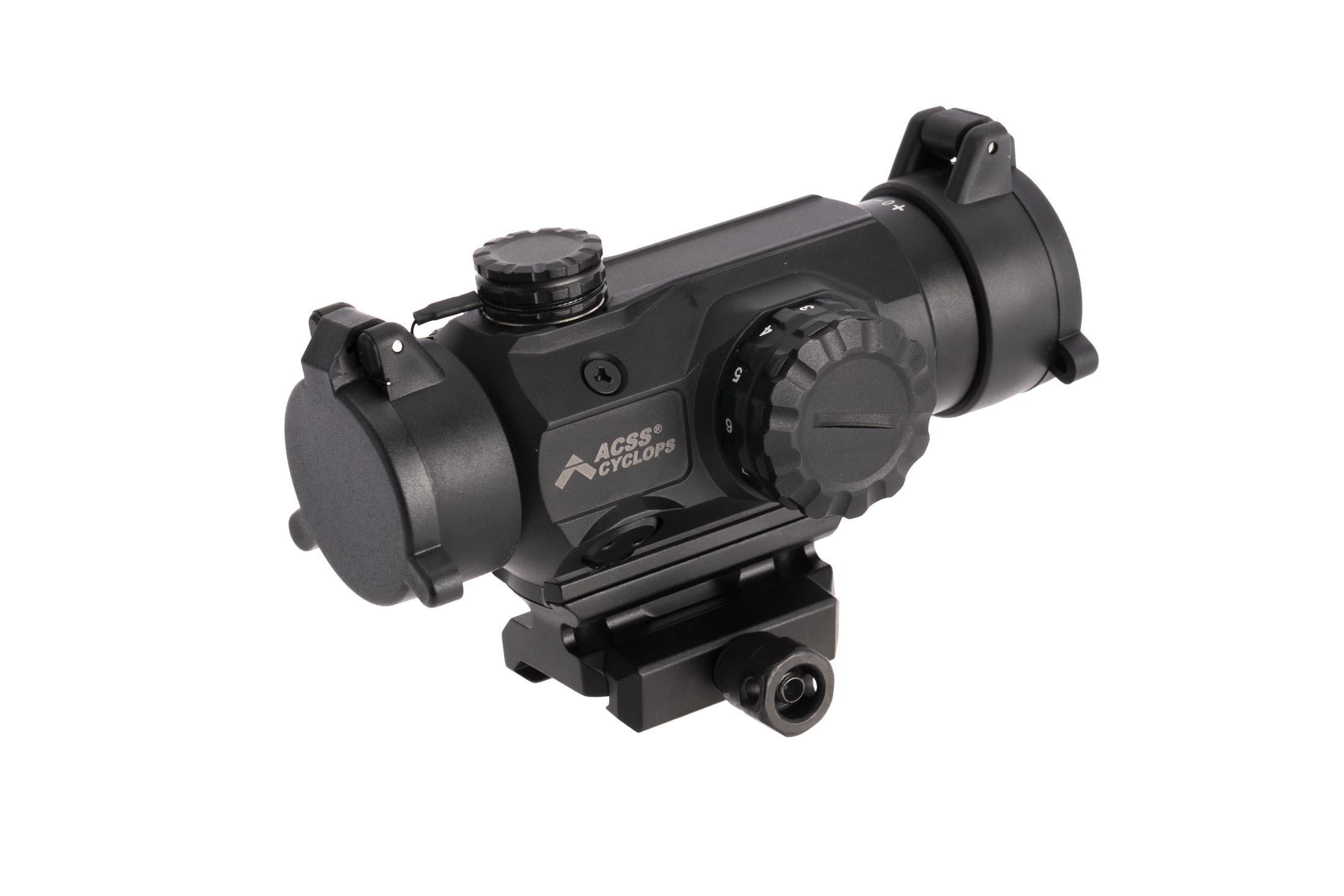 Primary Arms black anodized finish medium height 1x Prism scope spacer provides a 1.53 central height for absolute cowitness