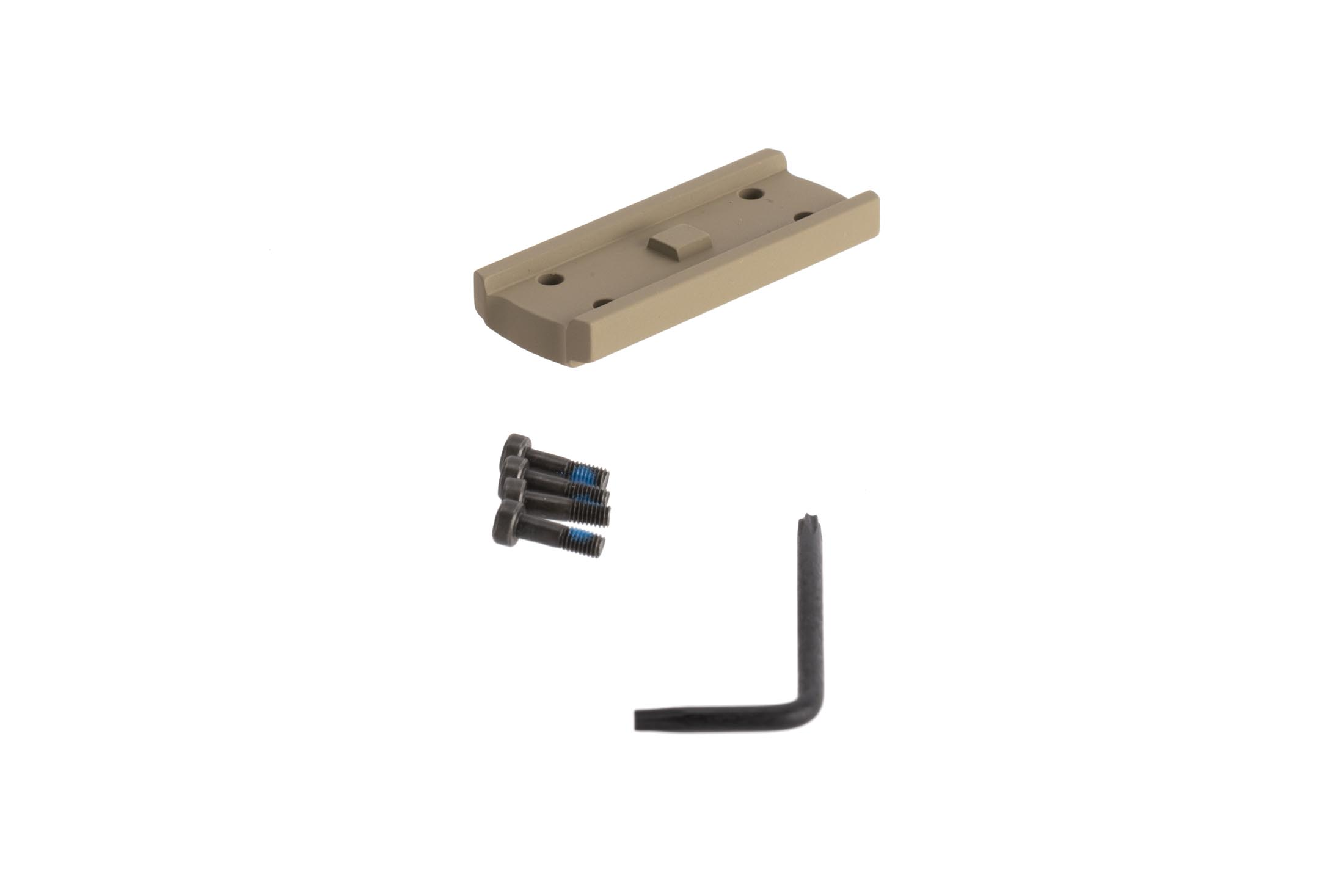 Primary Arms high height spacer with FDE anodized finish for the compact 1X prism scope includes mounting screws and torx wrench for installation