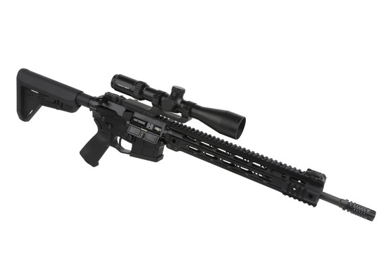 The Primary Arms 3-9 duplex scope attached to an AR-15 for hunting or plinking