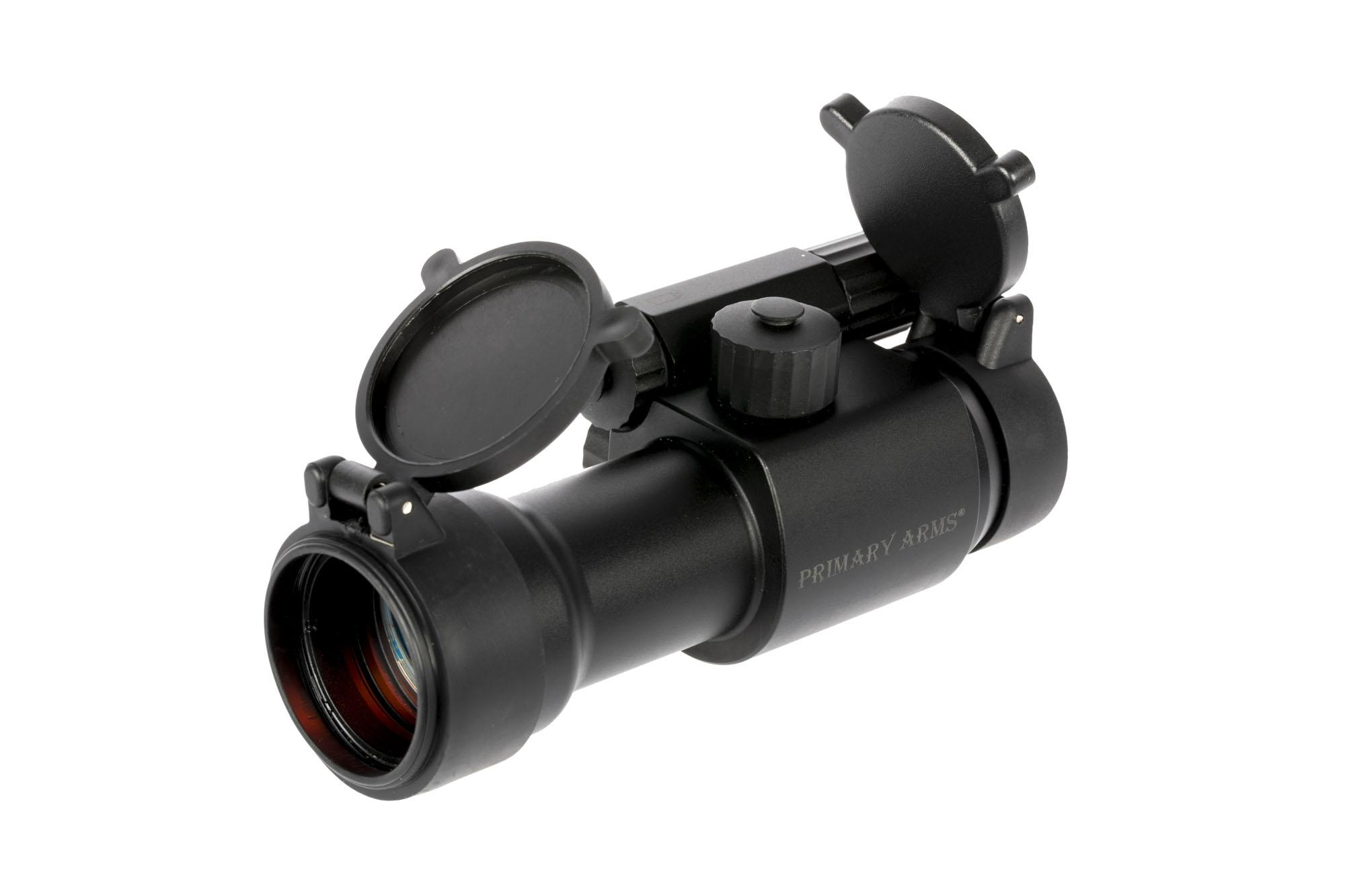 This red dot ar sight from primary arms features a removeable base