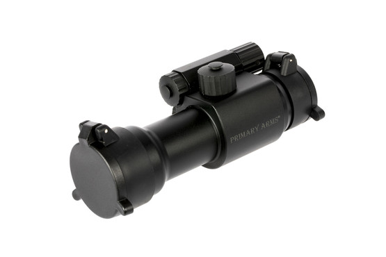 The Primary Arms Advanced 30mm red dot sight includes scope covers