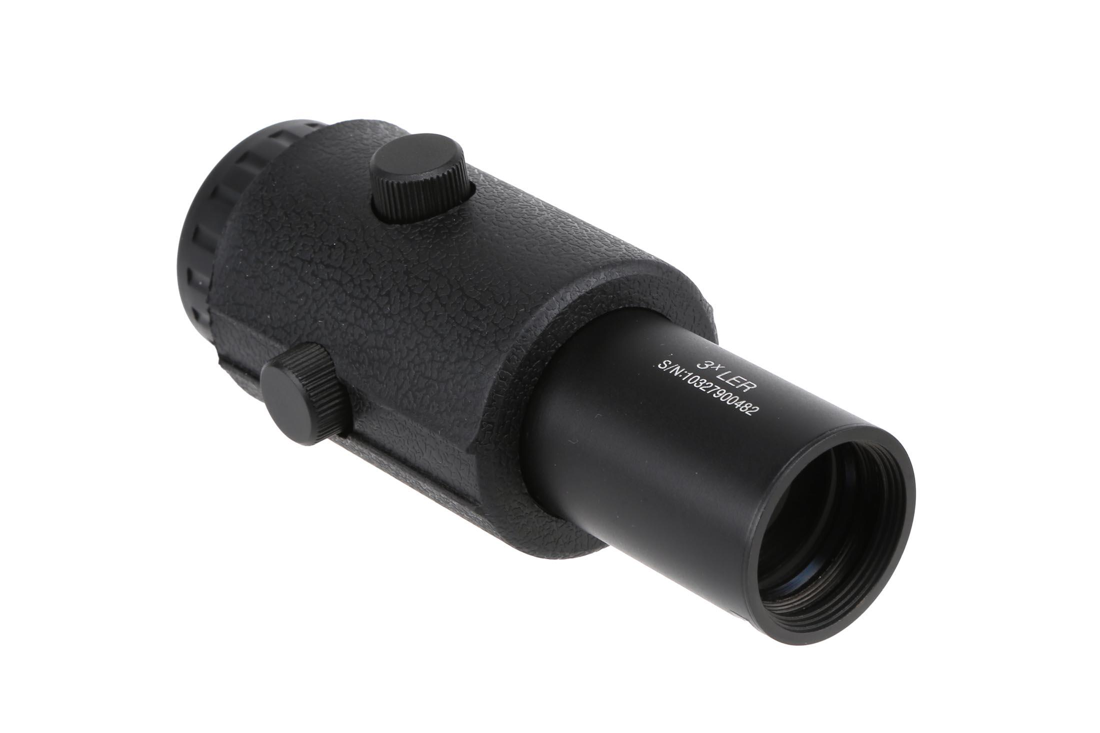 The Primary Arms 3X Red Dot magnifier gen IV features a long eye relief