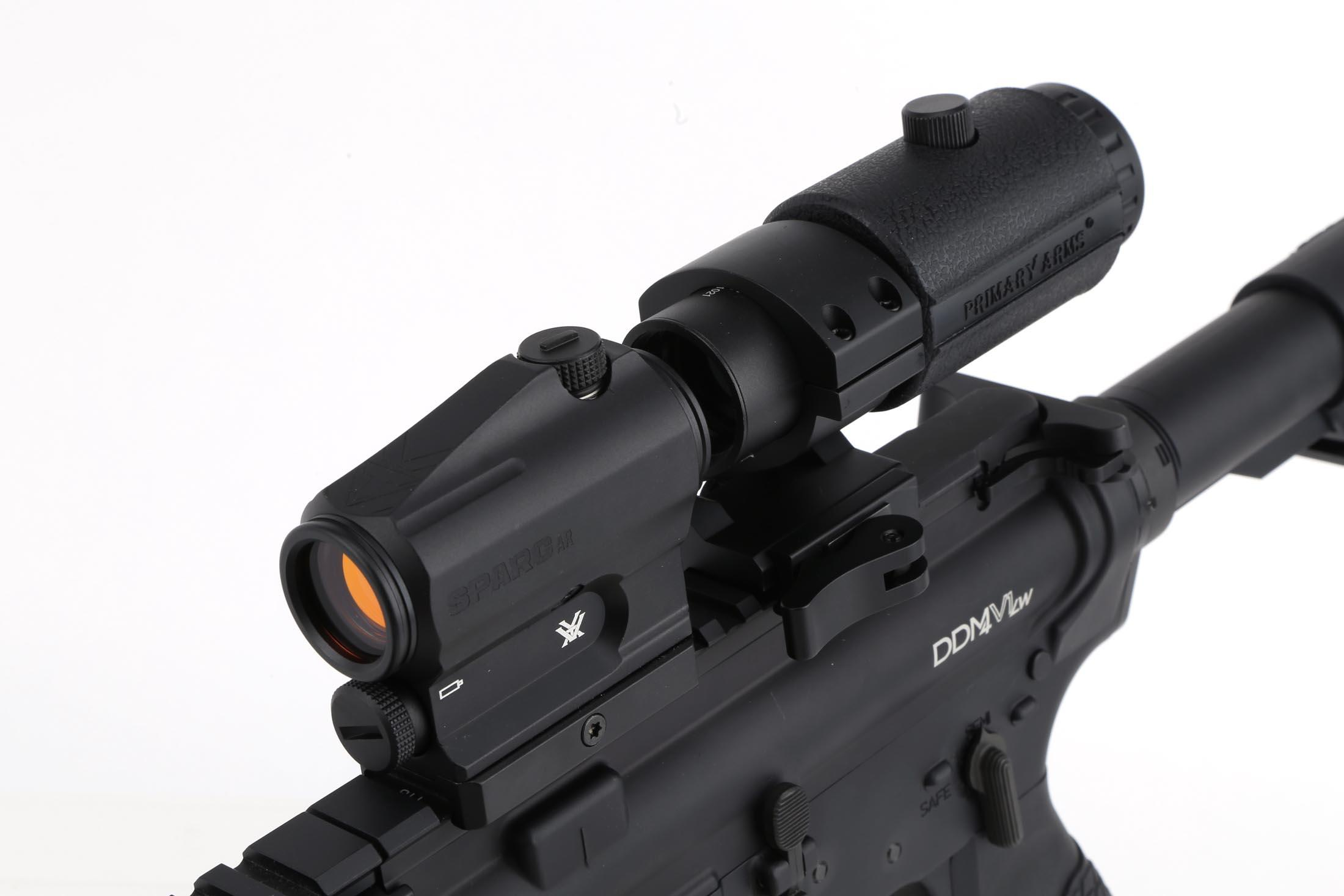 The Primary Arms 3x Magnifer LER Gen 4 combined with a red dot sight