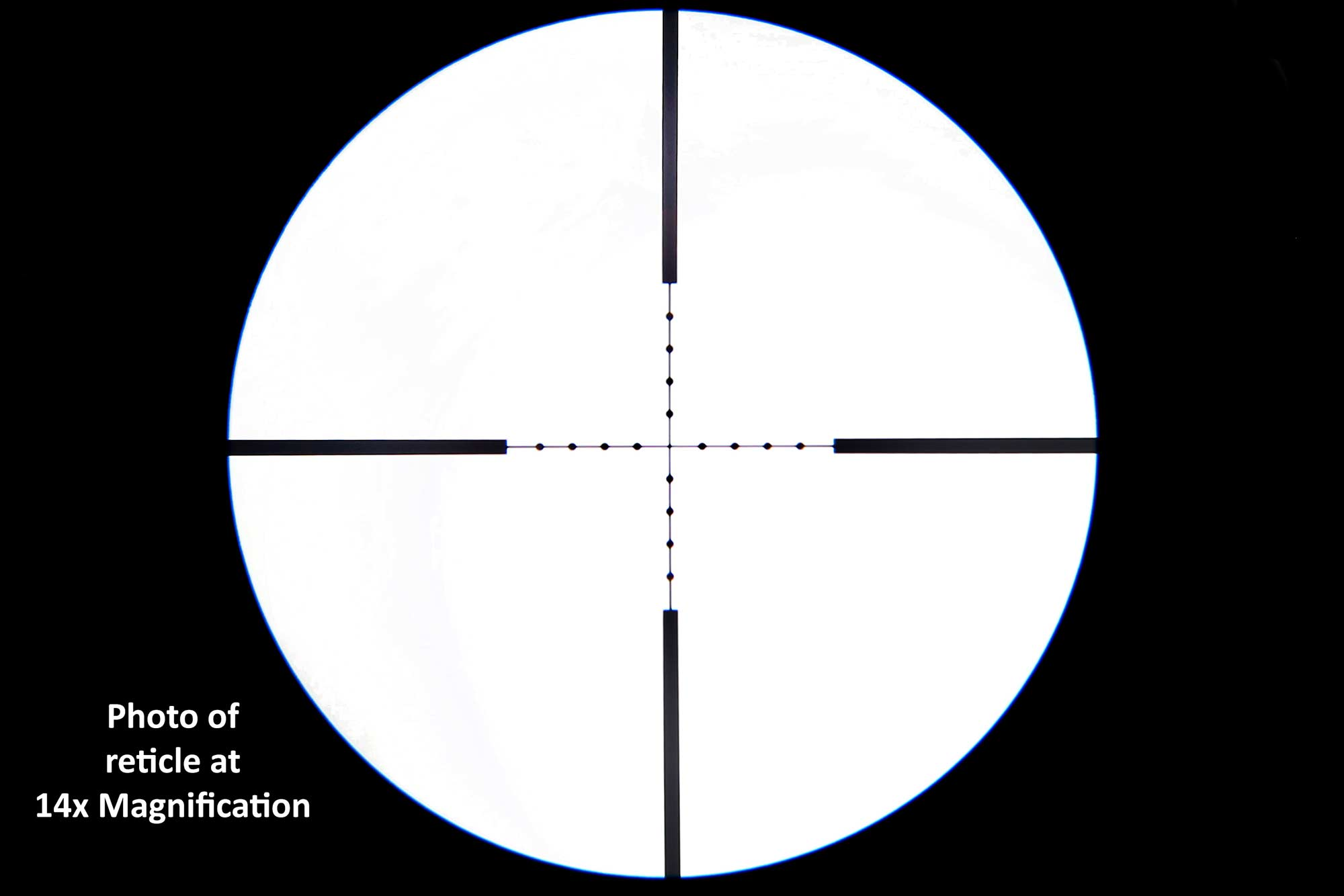 The Primary Arms 4 14X44 is a ffp optics with a Mil dot 5.56 reticle not illuminated