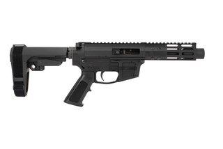 Foxtrot Mike Products 5in Glock Style ultra-light barreled AR pistol in .45 ACP with SBA3 brace is a Primary Arms exclusive.