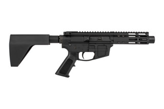 The Foxtrot Mike Products ultra light 9mm AR pistol Primary Arms Exclusive comes with an FM Products arm brace