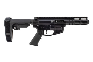 The Foxtrot Mike Products ultralight 9mm AR pistol Glock compatible with SBA3 arm brace is built for Primary Arms
