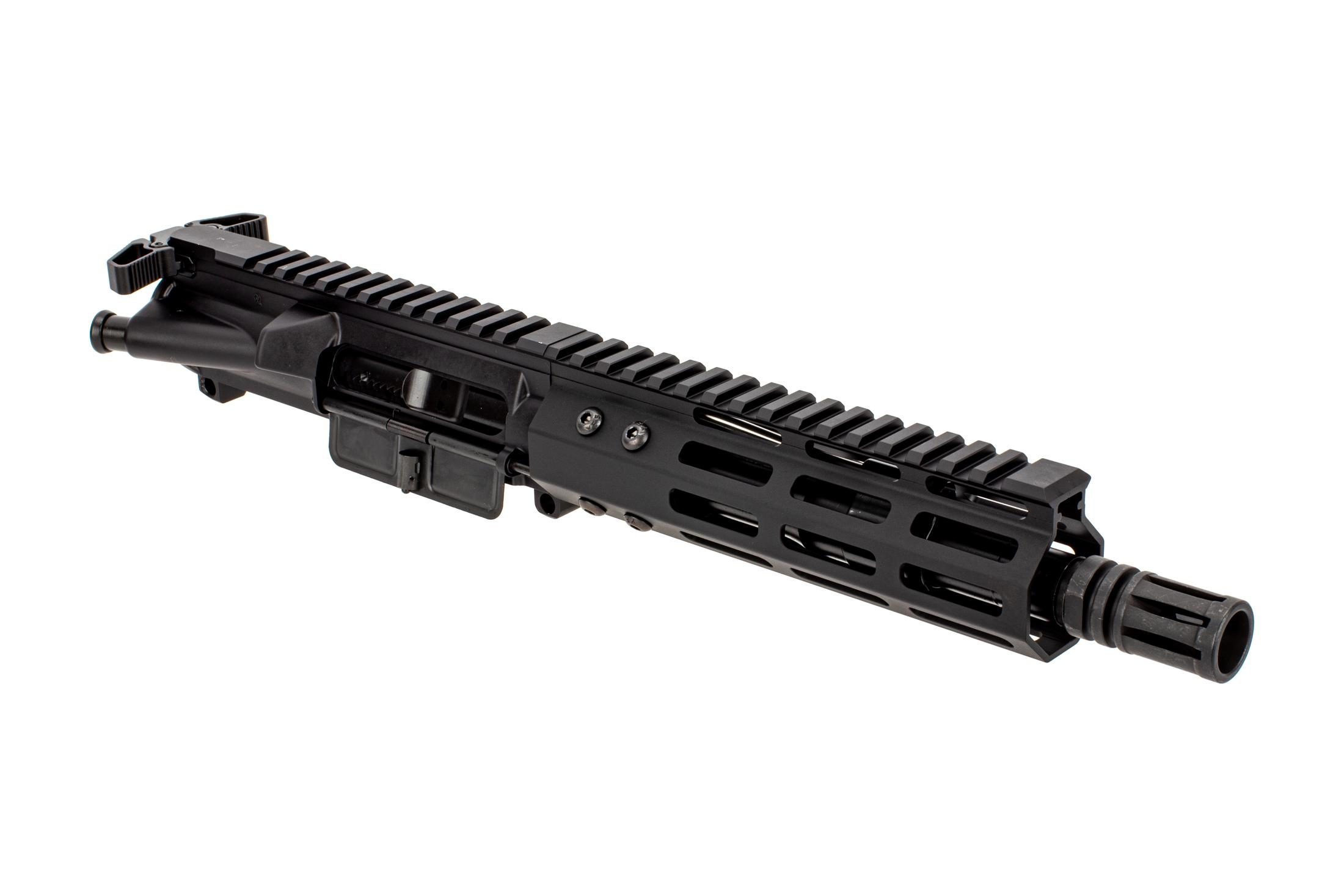 The Foxtrot Mike Products 5.56 AR15 pistol complete upper receiver features a 7.5 inch barrel