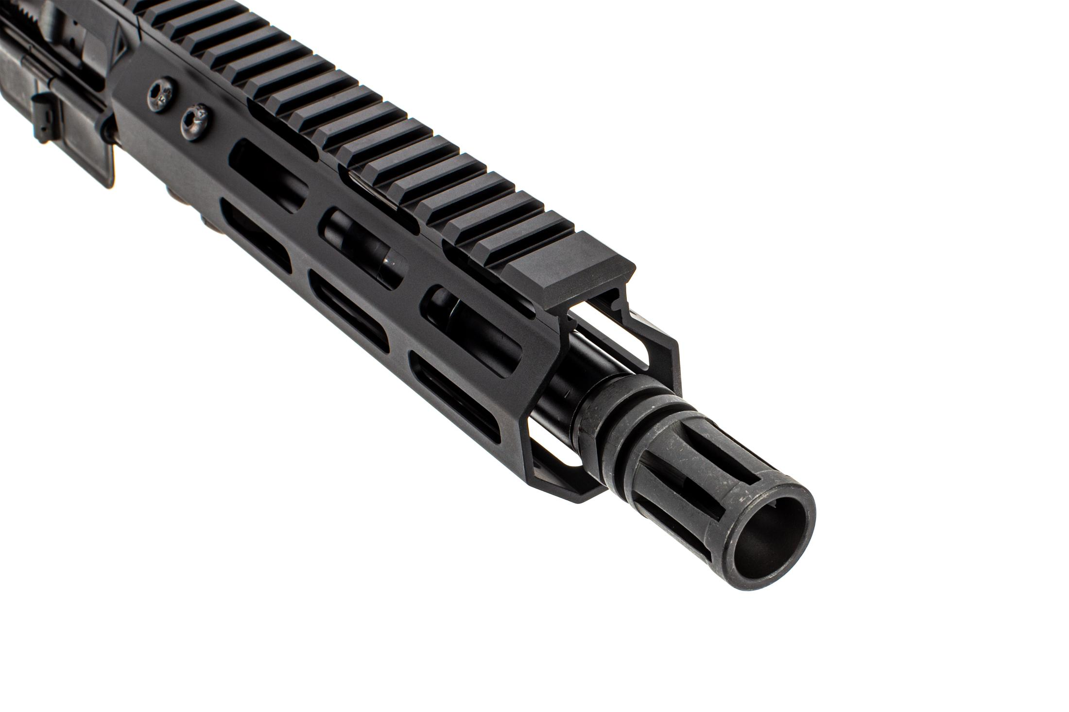 The Foxtrot Mike Products AR-15 complete upper 5.56 features an A2 flash hider