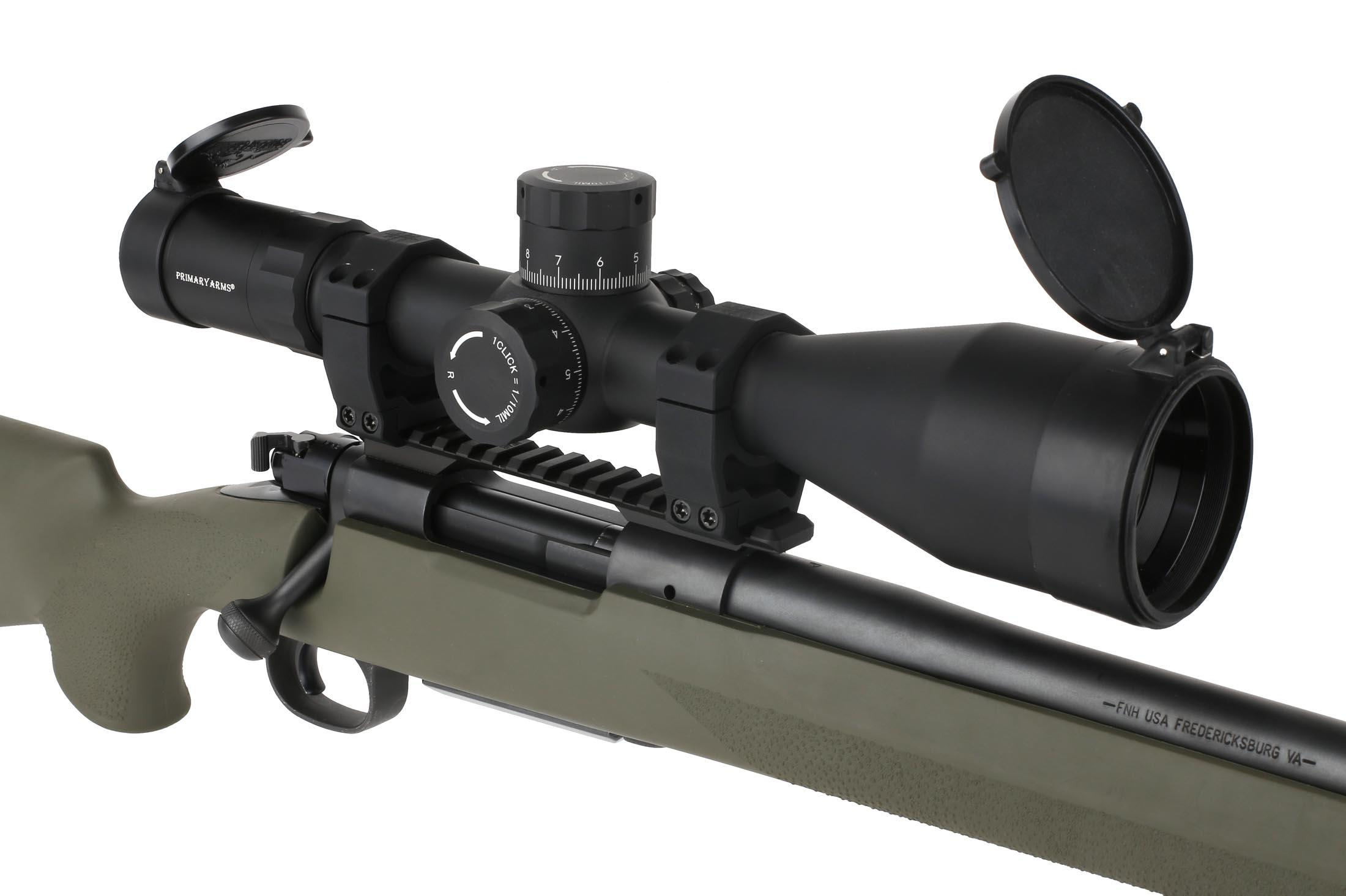 Primary Arms PLX5 6-30x56mm ACSS HUD DMR precision scope will help you reach extended ranges with your favorite rifle