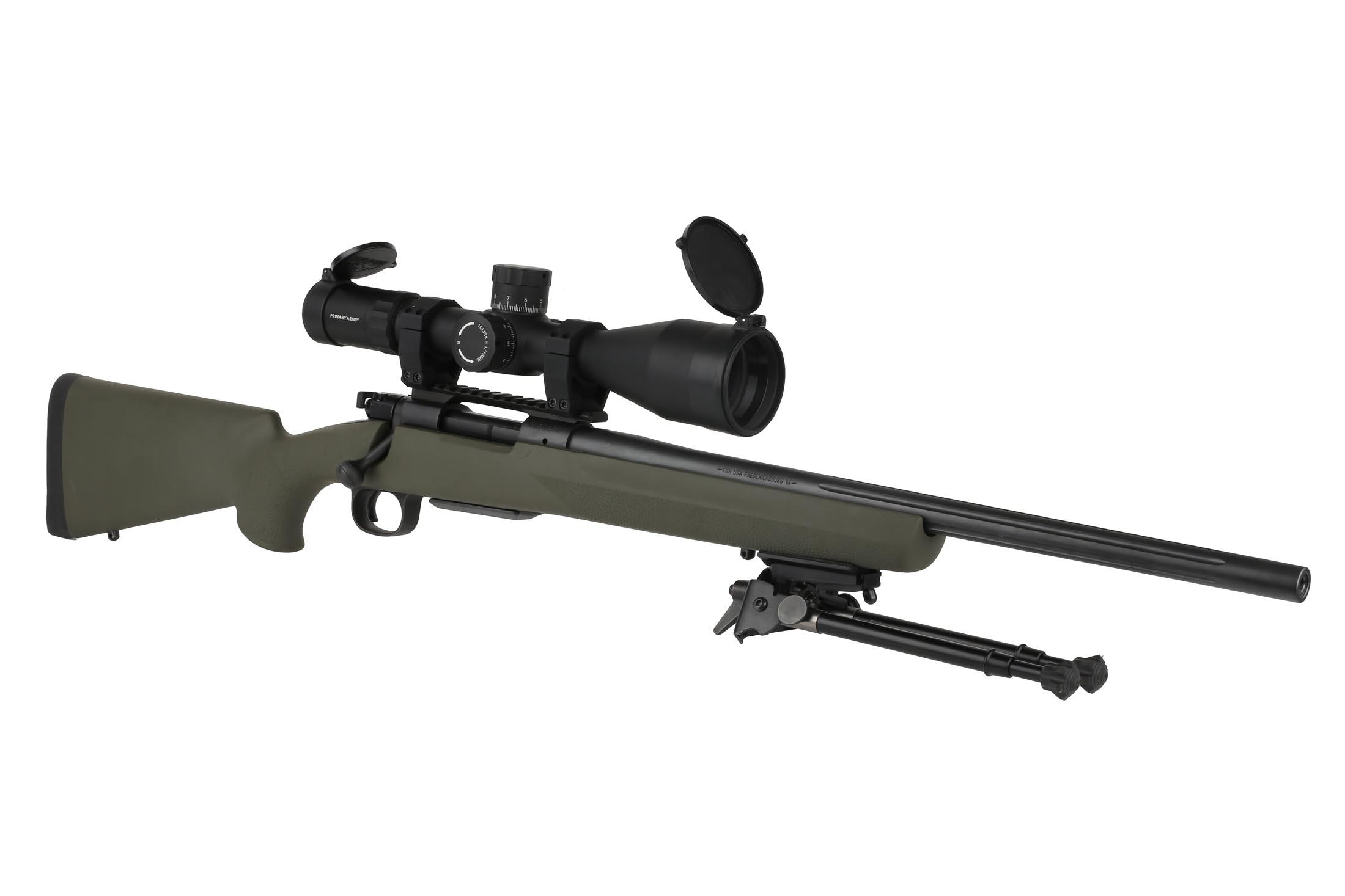 Platinum series 6-30x56mm PLX5 rifle scope with ACSS HUD DMR reticle is equally at home on bolt action or precision gas rifles