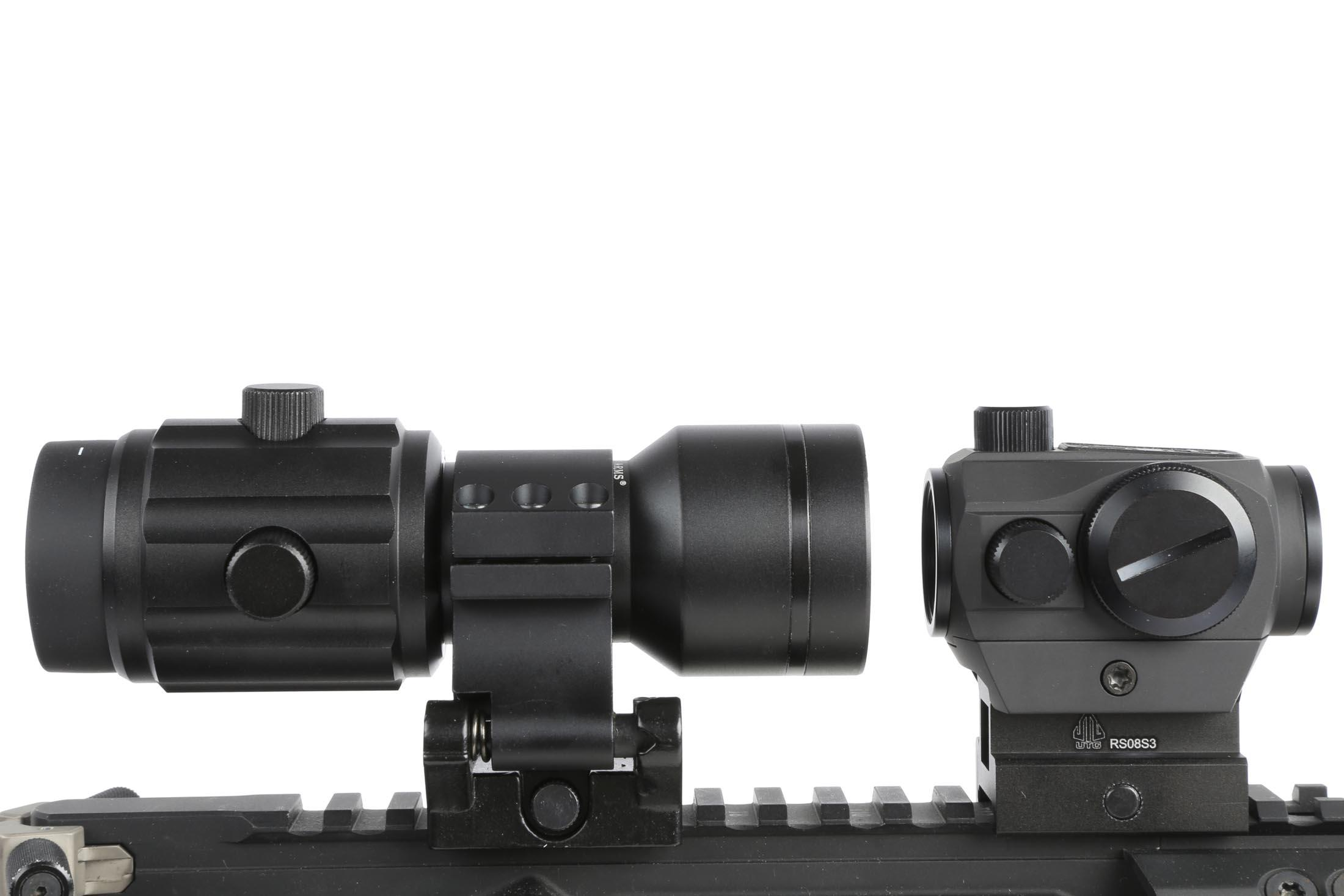 The Primary Arms red dot 6x magnifier has a 30mm tube diameter