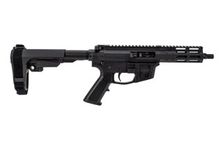 The FM Products 9mm AR Pistol features an SBA3 arm brace and a 7 inch barrel