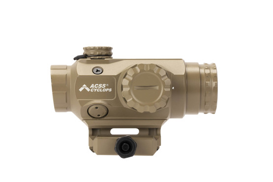 Primary Arms 1x Compact Prism Scope FDE with ACSS Cyclops reticle accepts standard Aimpoint T1 / H1 style mounts.