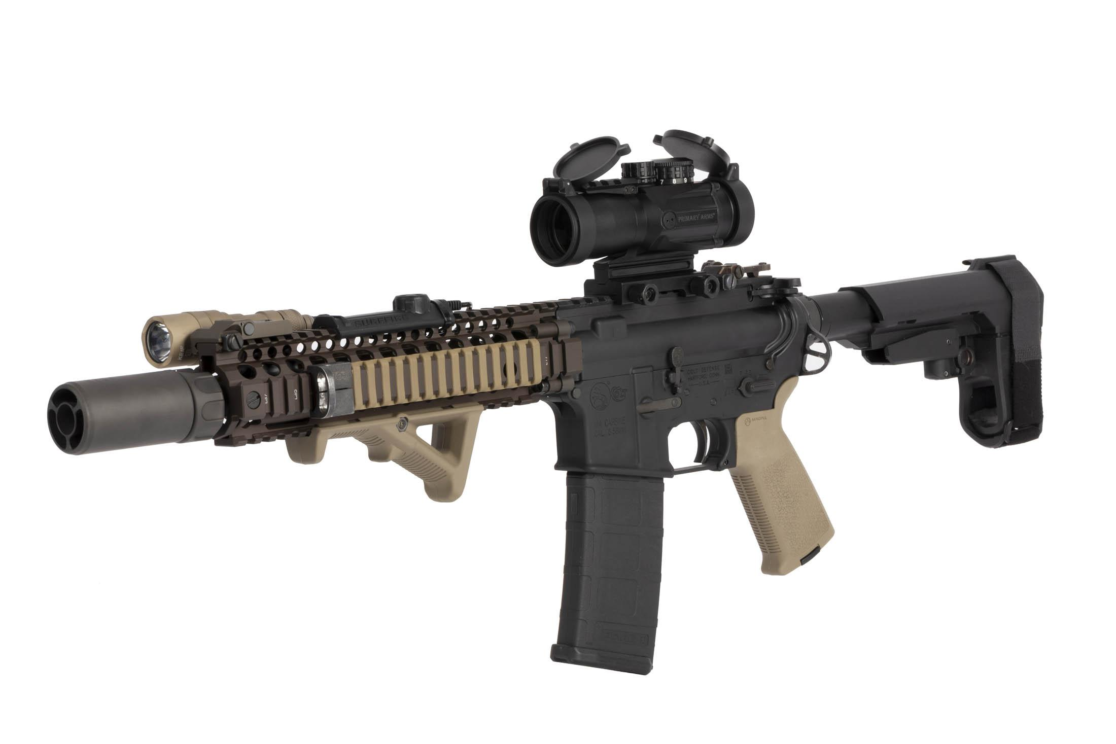 Primary Arms 3X Compact Prism Scope with ACSS CQB-M2 5.56 Reticle and spacer is perfect for use on AR-15 and AR-308 rifles