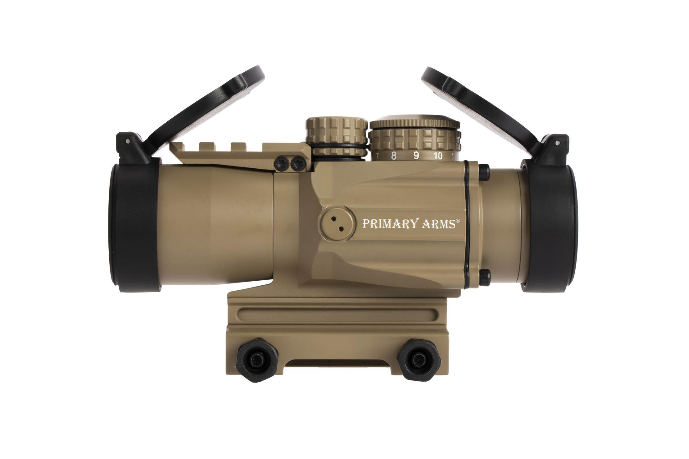 Primary Arms 2nd Generation FDE 3x Compact Prism scope with ACSS 7.62x29 / 300 BLK CQB reticle and removable mount spacer
