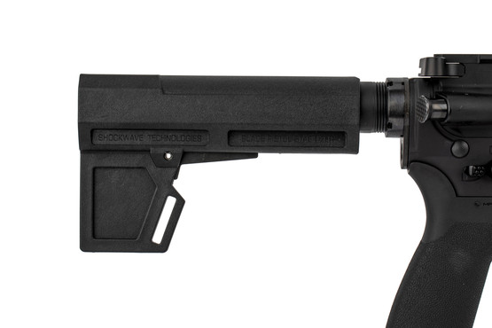 The Radical Firearms 300 BLK AR15 pistol features a shockwave 2M blade stabilizing brace